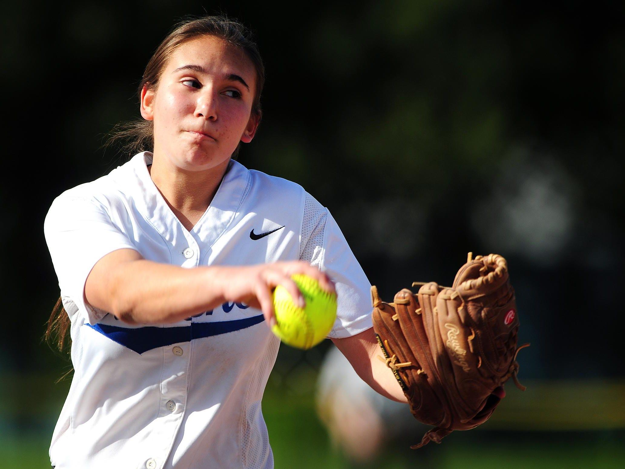 Blanchet Catholic pitcher Heather Arp.