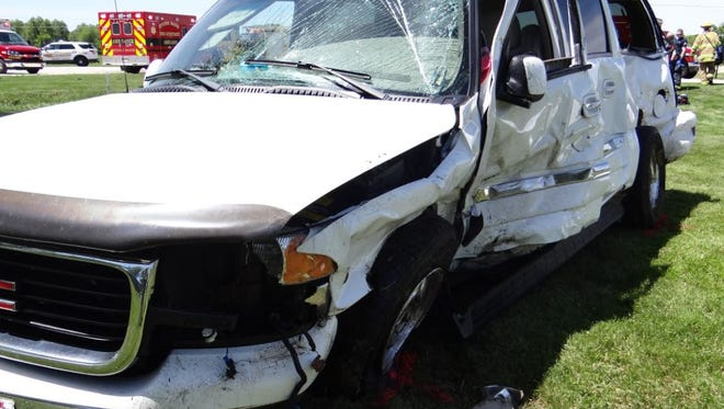 The driver of the GMC was killed Wednesday.