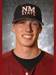 Former New Mexico State pitcher Tyler Sturdevant.