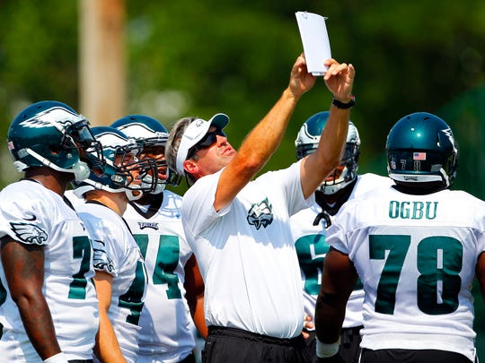 Former Philadelphia Eagles quarterback coach Doug Pederson,