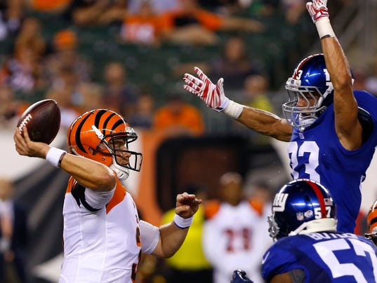 NFL: Preseason-New York Giants at Cincinnati Bengals