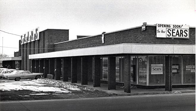 The Green Bay Sears store in 1966, just before it opened.