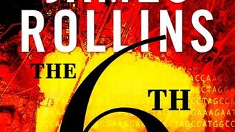 """This book cover image released by William Morrow shows  """"The 6th Extinction,"""" by James Rollins. (AP Photo/WilliamMorrow)"""
