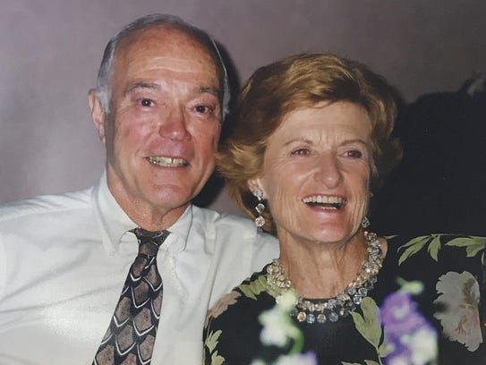 Calvin Chamberlain and his wife, Janet. Together, the