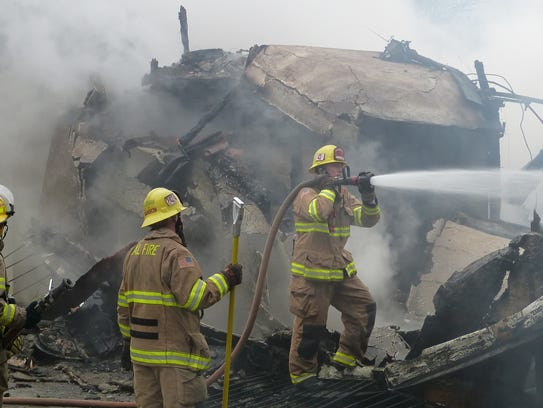 A Palo Cedro home was destroyed in a Thursday morning