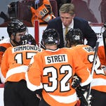 Flyers coach Dave Hakstol had three new defense pairs in Wednesday's practice.