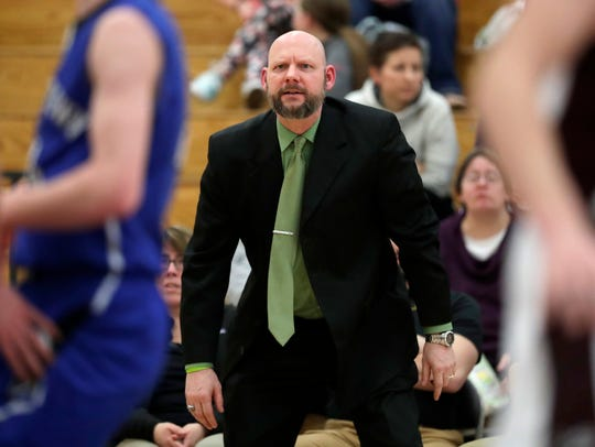 Fox Valley Lutheran High School's head coach Matt Koepsell