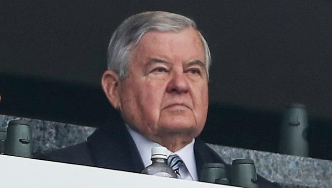 Panthers owner Jerry Richardson during a game last season.