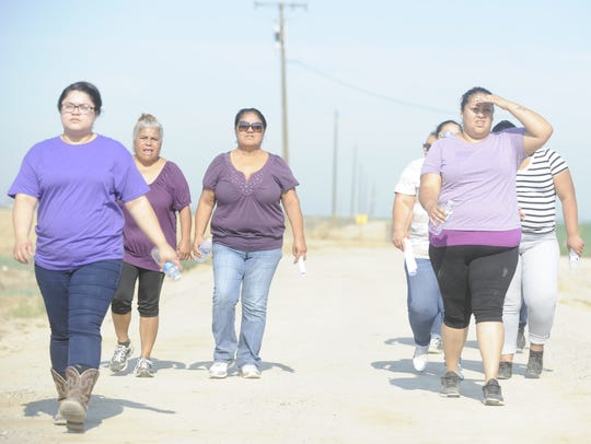 Members of the search party wore purple, in honor of