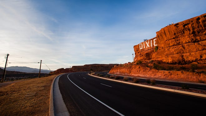 """The word """"Dixie"""" on the cliffs above the city has become an iconic part of St. George."""