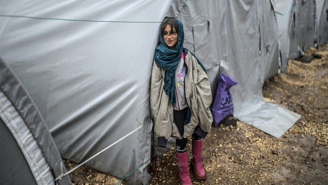 A Kurdish girl at a refugee camp in Suruc, Turkey, on Thursday, Oct. 30, 2014.