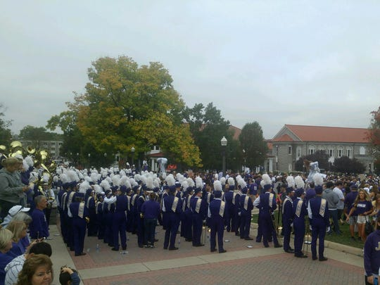 The Marching Royal Dukes are ready for ESPN's College GameDay.