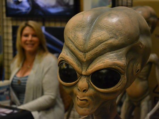 An alien from a previous International UFO Congress.