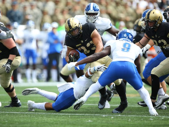 Army junior Darnell Woolfolk, a Maine-Endwell graduate, has rushed for 670 yards and 11 touchdowns this season.