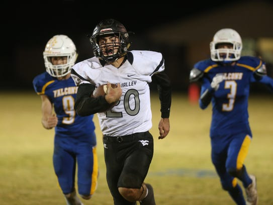 Water Valley senior Jeremy Jackson rushed for more than 2,000 yards and scored 40 touchdowns in being named to the 2017 Class 1A All-West Texas Team.