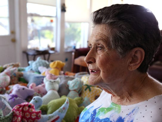 Leota Gaines has made over 5,000 stuffed animals duing