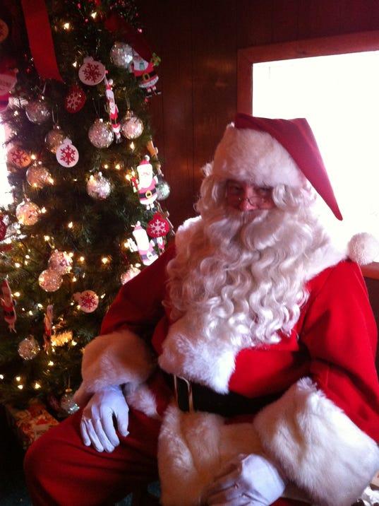 Santa at the cabin in Hanover. (Haley Staub)