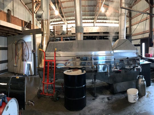 The processing facility at Drewry Farms in Plymouth