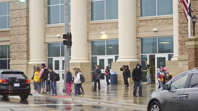 After-school scene at Battle Creek Central High School.