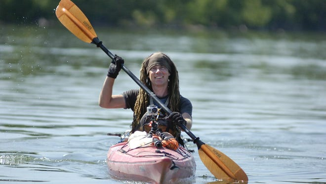 """Rod Wellington, a kayaker, passed through Great Falls in 2012 on his kayak trek from the source of the Missouri River to the Gulf of Mexico. He's speaking about his book """"River Angels"""" at Cassiopeia Books on Sept. 6."""