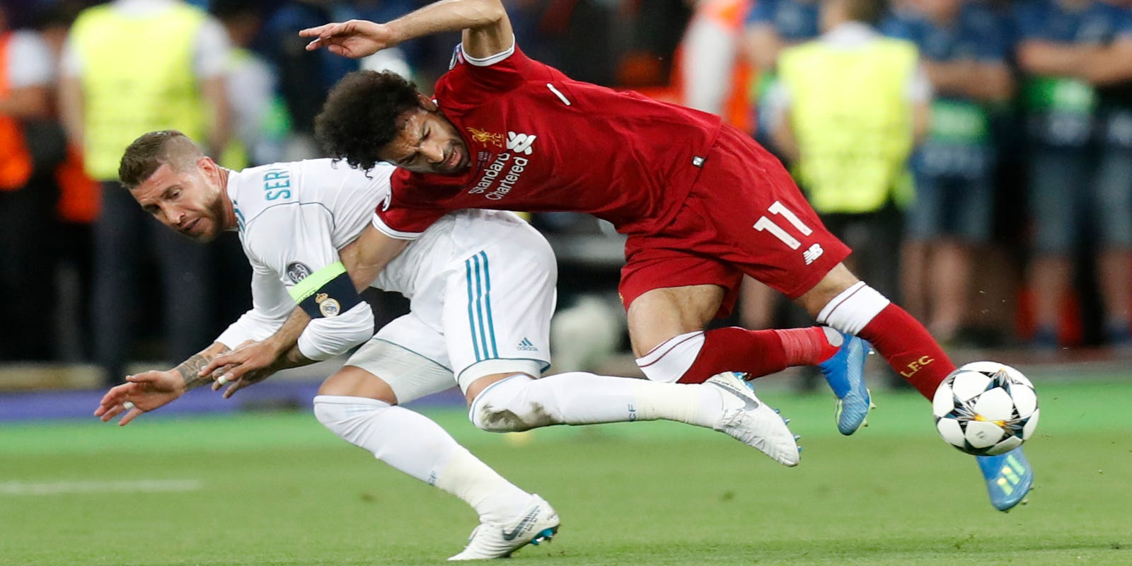 33c46eb3f The Latest  Klopp unhappy with Ramos  wrestling  Salah