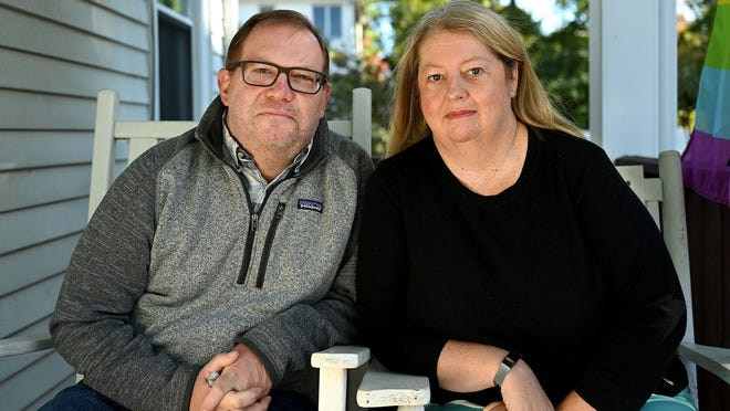 John and Stephanie Jennings of Natick  both received letters  from the state Department of Unemployment Assistance informing them that their unemployment claim had been processed even though the never made such claims.