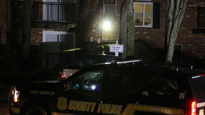 New Castle County police investigate May 4 shooting at Foxwood Apartments in Pike Creek.