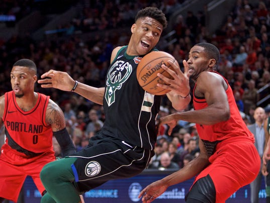 NBA: Milwaukee Bucks at Portland Trail Blazers