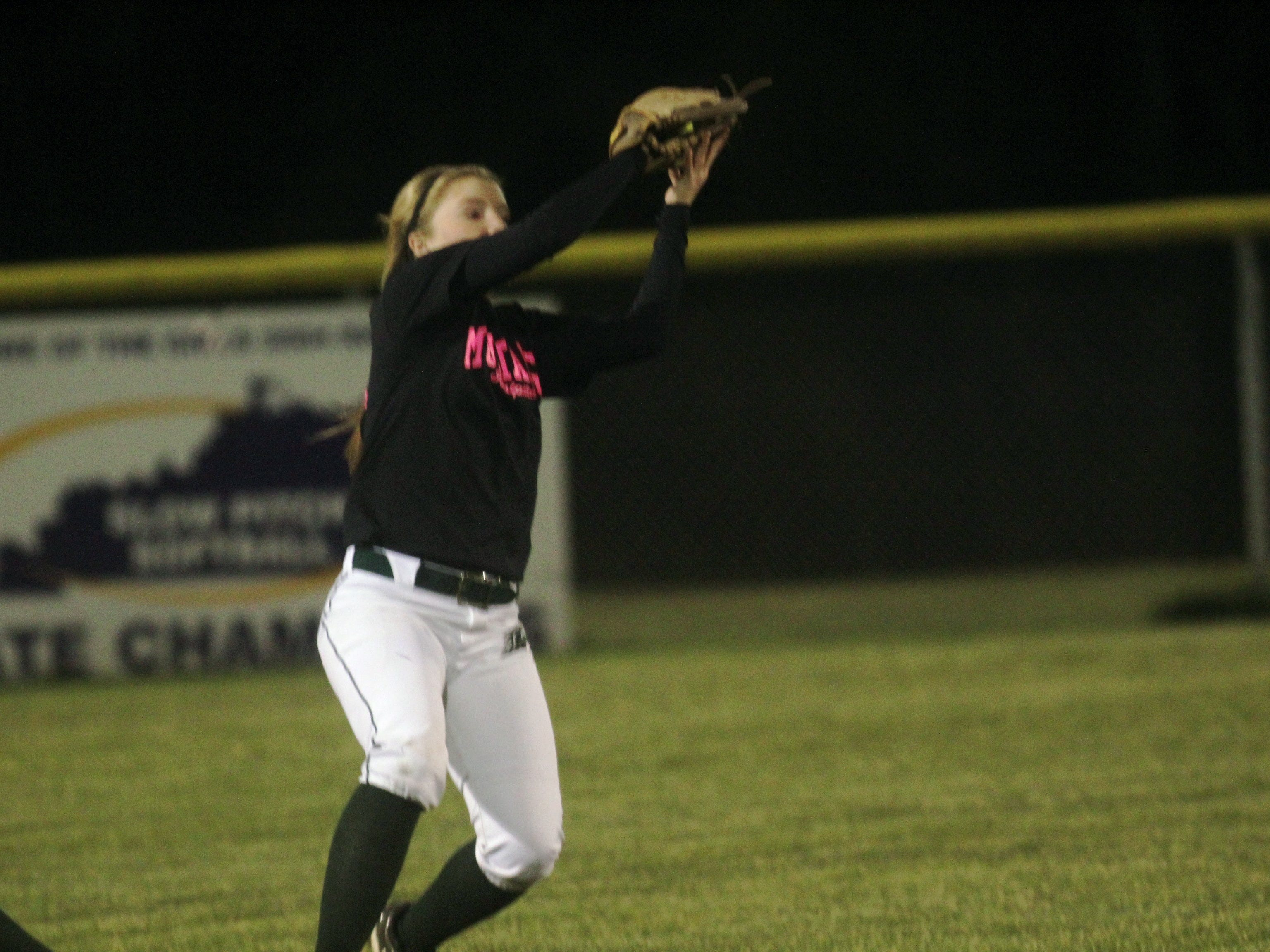Brossart's Riley Orth gets an out last year.