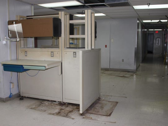 This was among the areas of Huey P. Long Medical Center that was seen by a group touring the closed hospital on Monday.
