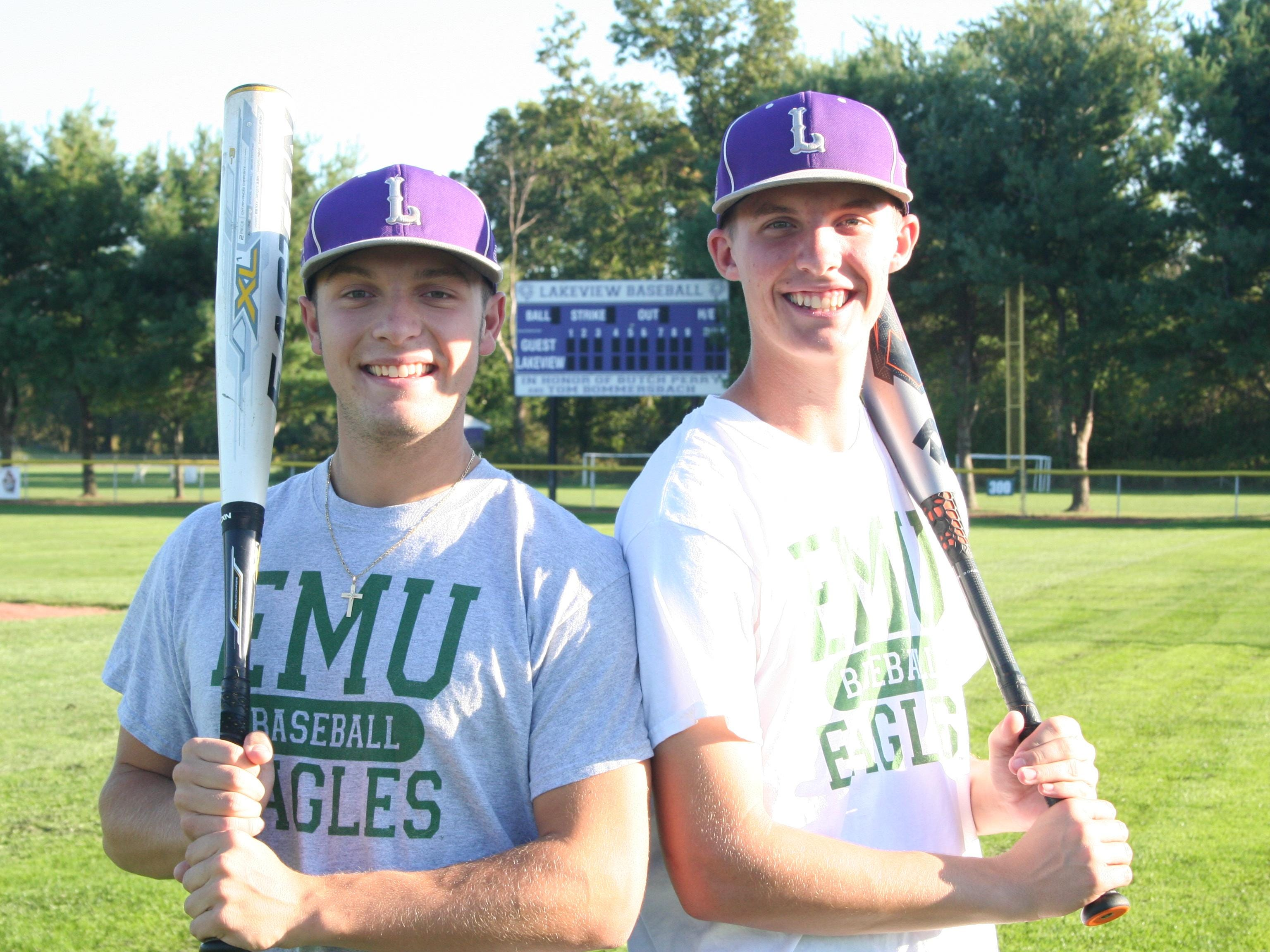 Lakeview's Nick Jones (left) and Nate Jones have verbally committed to play college baseball at Eastern Michigan University.