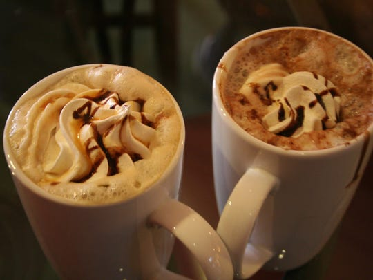 Holiday coffee and hot chocolate at the Brownstone Coffee House in downtown Battle Creek.
