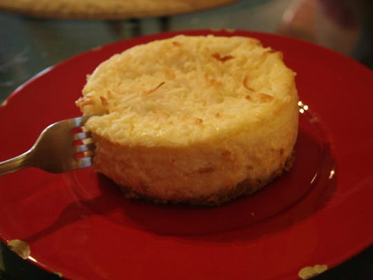 Toasted coconut cheesecake at Brownstown Coffee House.
