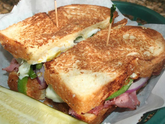 Bill's Bites College Tour continued at University of Michigan with a visit to Maize and Blue Delicatessen to try the Where's Bo? sandwich.