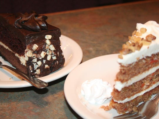 For desserts on a special night, Clara's carrot cake or the Black Tie Chocolate Layer Cake is the choice for Bill's Bites.
