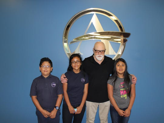 Sussex Academy students Jaide Morales-Alvarado, Sherllyn Morales-Alvarado and Karen Yoc-Gonzalez joined founder Gonzolo Martinez on a recent visit and tour.
