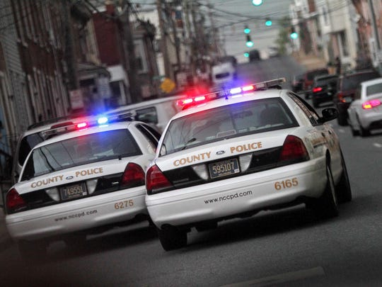 County Police driving through Wilmington last year.