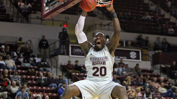 Mississippi State junior Gavin Ware still isn't 100 percent after injuring his ankle against USC Upstate.