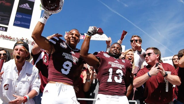 Former Mississippi State players Justin Cox (9) and Josh Robinson rank among the top 300 prospects in this year's draft.