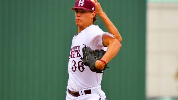 Mississippi State pitcher Austin Sexton dominated against Arizona on Saturday.