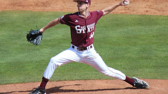 Mississippi State pitcher Ross Mitchell is a candidate for the Senior CLASS award.