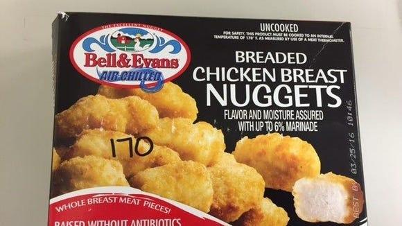 Bell Evans Gluten Free Breaded Chicken Nuggets Recalled