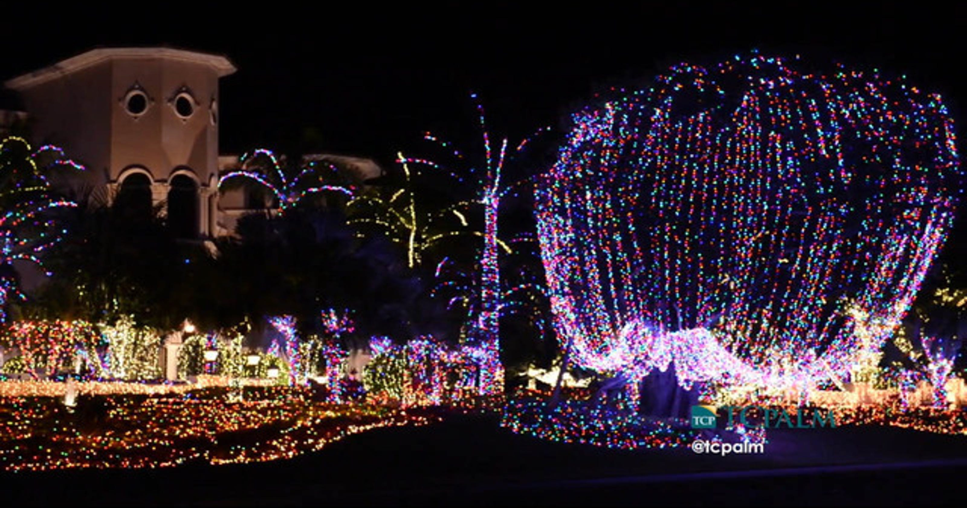 jensen beach mansion returns with thousands of lights for christmas