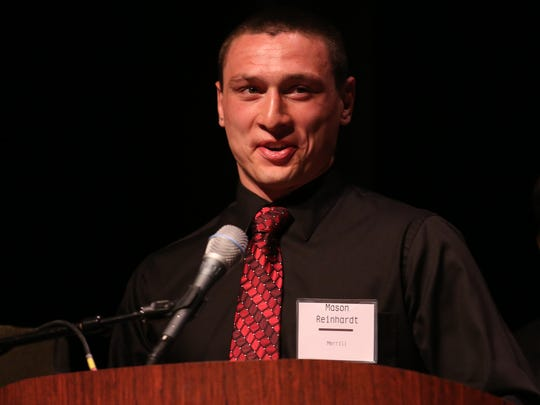 Mason Reinhardt of Merril was named Wednesday as the