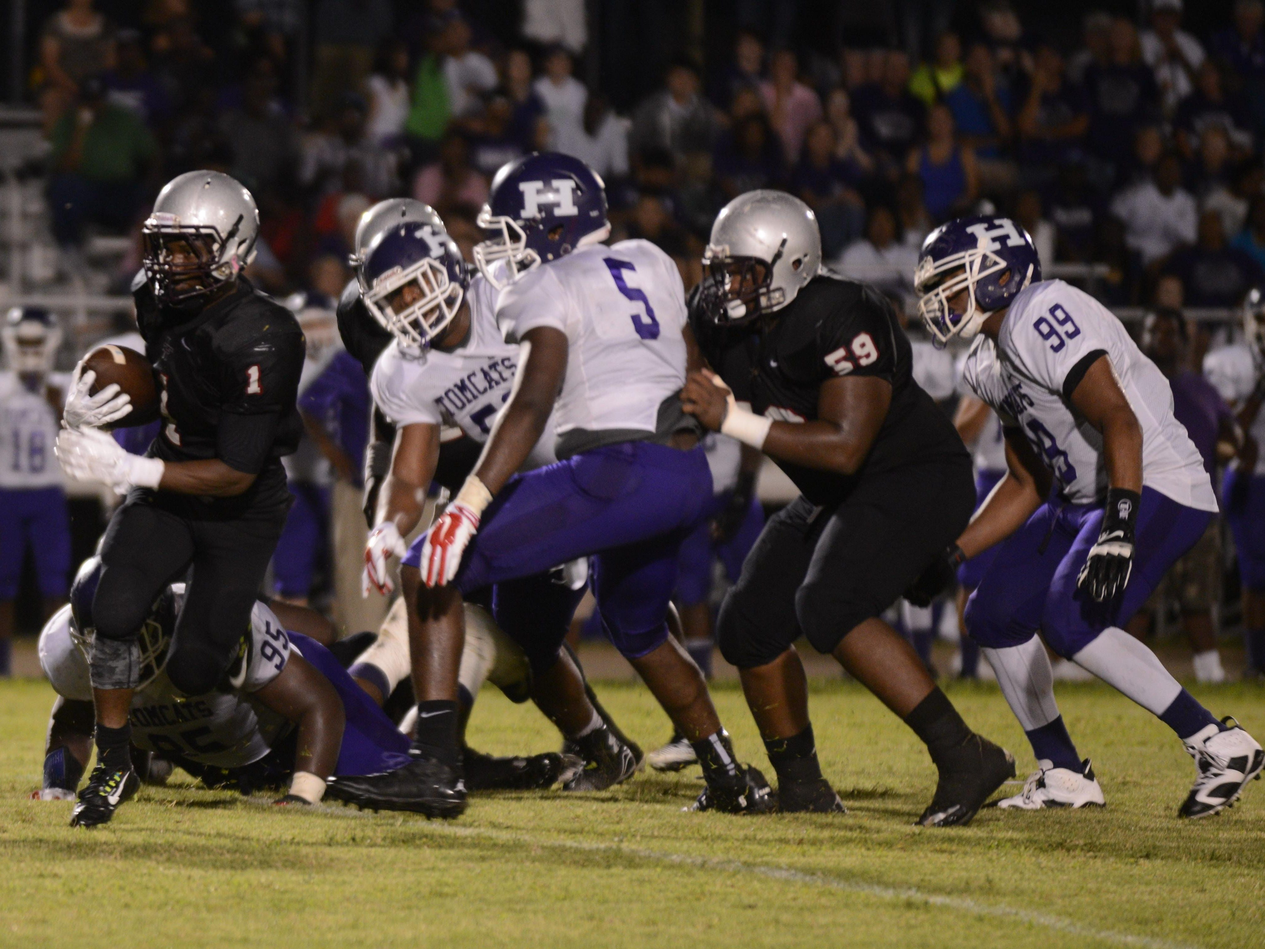 Haywood's football team, seen here in a game against Liberty last year, is among the list of local teams whose schedules have changed because of scheduling mishaps originating in Memphis.
