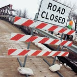 A bridge in Quarry, Iowa, closed for safety concerns in February.