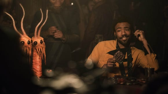 Donald Glover plays smooth gambler Lando Calrissian