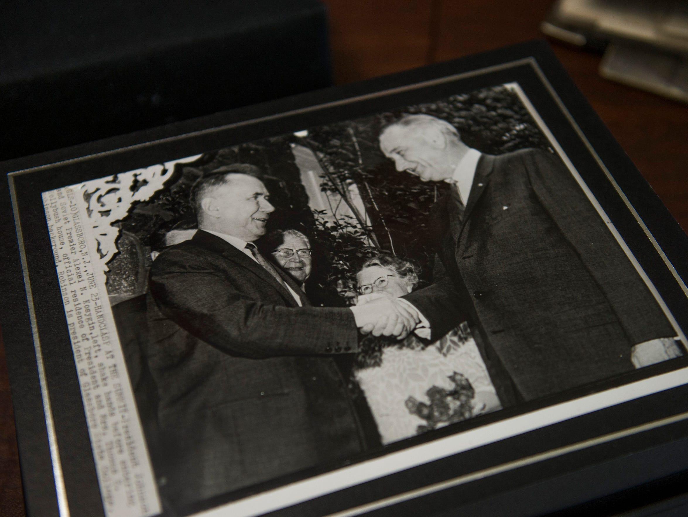 An Associated Press photo of President Lyndon B. Johnson