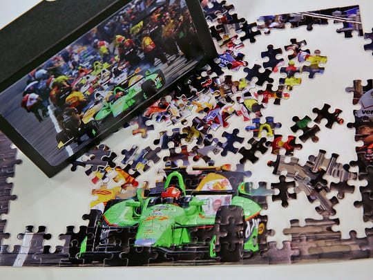 This puzzle of Carb Day, from a Retro Indy photograph, was purchased through MyCapture.
