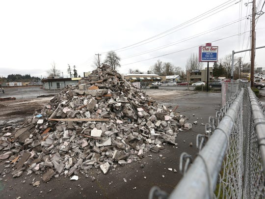 The Thai Beer Restaurant on the corner of Wallace Road and Edgewater Street has been demolished to make way for a new location for Goodwill Industries.